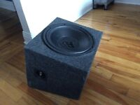 "12"" Subwoofer (Dual-coil, 300W RMS) with Enclosure"