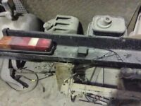 FORD TRANSIT REAR LIGHT BAR AND EXTENSIONS FOR TRUCK