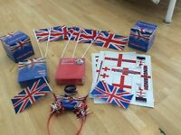England party pack, flags mugs, stickers etc all new