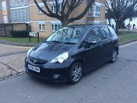2007 Honda jazz sport 1.3 petrol in black alloys new mot one owner