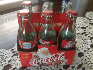 1999 Coca Cola Christmas Edition 6 Pack With Carrying  Case