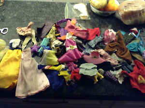 Huge collection of Barbie clothes including Ken clothes for sale
