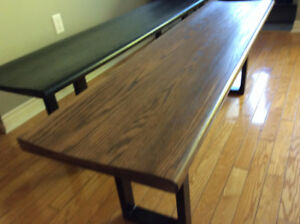 Solid Oak Benches