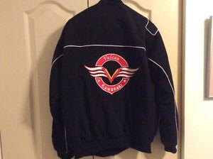 Men's medium Kawasaki Vulcan lined jacket $50 Strathcona County Edmonton Area image 2