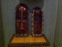 Two beautiful wooden Masks from Ghana Collection (Pier I)