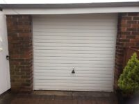 Up and over white garage door