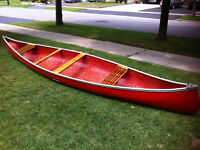 Canoe & Paddle 16 Feet, 58lbs: !!Awesome for Camping!!