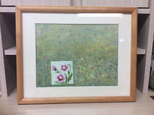 "Framed ""Flower"" oil painting"