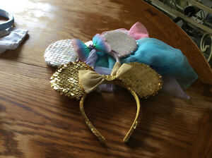 Minnie mouse headband one golden and one with 'tails' Windsor Region Ontario image 1