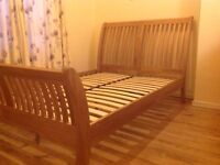 Solid double bed
