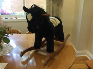 ROCKING HORSE, DOLL'S BED, RIDE-ON CAR, excellent condition