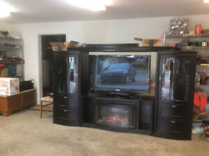 Beautiful black wall unit