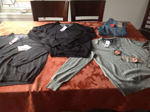 New men's sweaters and jeans