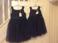 Girls party / bridesmaid dresses - ages 4-5 and 6-7