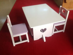 Kids table and chair set (2 sets)