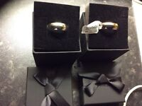 9 carat white gold his and hers wedding rings