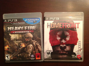 PS3 Heavy Fire Afghanistan and PS3 Homefront