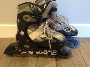 Girls adjustable roller blades-size 1-4