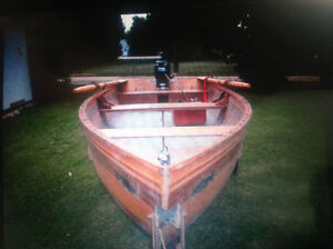 14 Foot Cedar Strip Rowboat