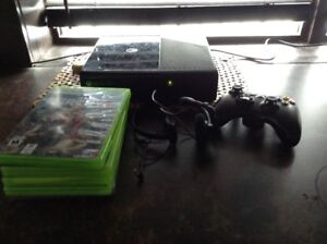NEWEST XBOX 360!!!  ( five games, controller and XBOX head set)