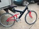 Men's black & red bike