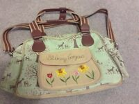 Baby bag (blooming gorgeous/ pink lining)