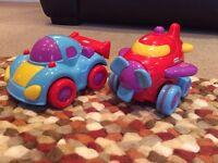 2x Little Tikes Push & Go Vehicles