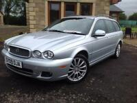Jaguar X-TYPE 2.2D automatic S ESTATE, 76K, FSH, 9 STAMPS, 8 JAGUAR , VGC