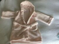 The Little White Company - pink dressing gown (2-3 years)