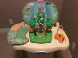 Fisher Price Rainforest High Chair with Removable Toy