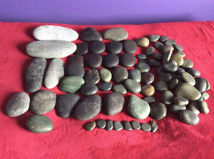Hot Stone Massage stones and DVDs