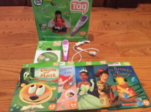 Leap Frog TAG Reading and Learning System w Pen and Books