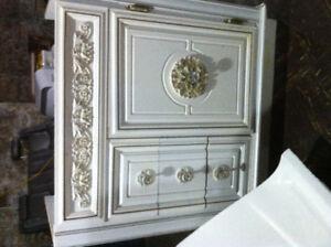 Ornate Bathroom vanity cabinet