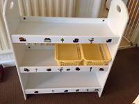 Children's storage shelf system