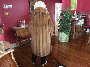 Mink coat with matching hat