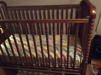 Solid maple spindle crib