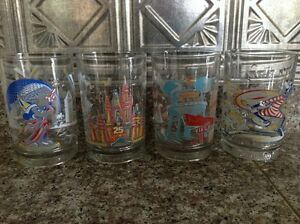 Walt Disney 25th Anniversary Drinking Glasses