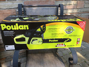 """Poulan P3314 14"""" Gas powered chainsaw never used!"""