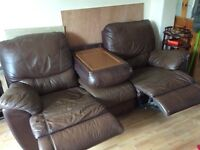 3 seater with 2 recliners
