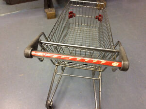Stainless steel child shopping cart just like the big ones