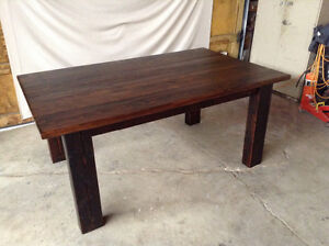 Brand new reclaimed hardwood dining table