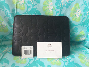 iPad mini /e reader BrandNewAuthentic Coach leather sleeve $30