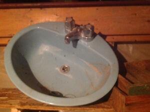 Vintage blue sink