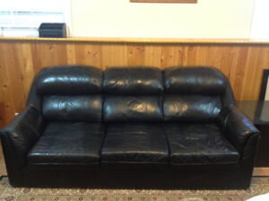 Moving Out Sale - Black Leather Sofa, Love Seat - $200 OBO