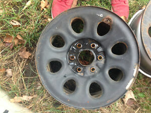 Set of 4 Michelin LTX tires and steel wheels off of gmc truck Kitchener / Waterloo Kitchener Area image 2