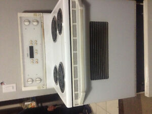 Electric gas range with coils , convection self clean oven