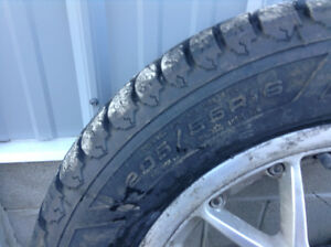 2 new good year snow tires