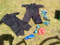 Children's Wet suits with free swim set