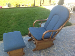 Glider rocking chair and stool