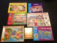 Selection of jigsaws and puzzle game.